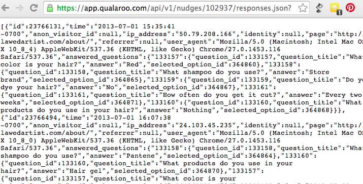 The REST Reporting API – Qualaroo